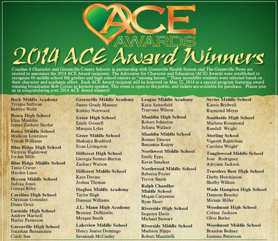 ACE Awards - Coaches 4 Character